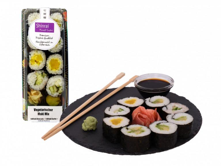 Sushi 3 + Verpackung 3