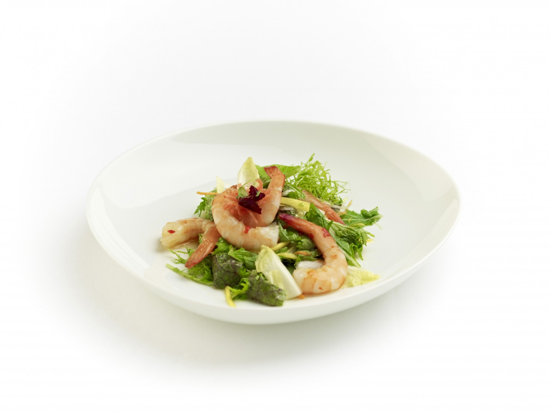 asia salat mit gekochten shrimps yuu 39 n mee. Black Bedroom Furniture Sets. Home Design Ideas