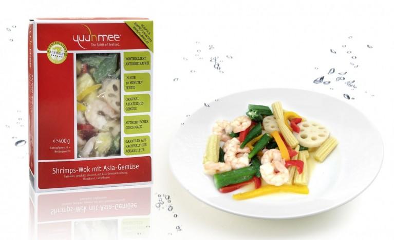 Shrimps Wok Webpagebild