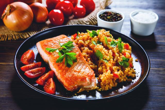 Webpage_Rezept_Lachs Filet mit Reis_natur