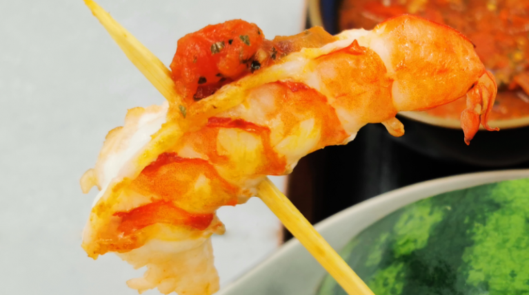 Jumping Shrimp's on fire